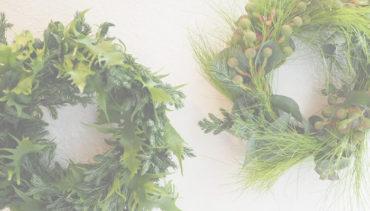 Green wreath workshop by LOTUS FLOWER